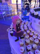 Chika, one of KidZania's RightZKeepers, adorning one of the tables