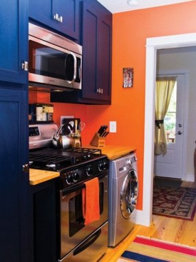 16 Brighten Up Your Home With An Orange Kitchen 08