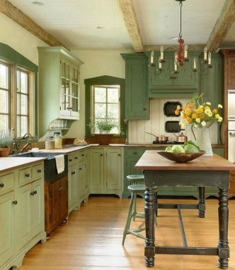 18 Green Kitchens That Will Make You Envious 07