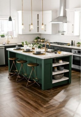 18 Green Kitchens That Will Make You Envious 13