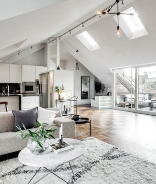 17 Attic Apartment In Stockholm Dictates Layout And Style 14