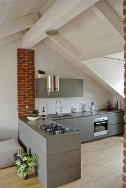 20 Office Attic Converted Into Loft Apartment Keeping Original Wood And Brick 20