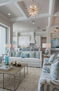 22 Adorable Living Room Decor Ideas With Coastal Touches 17