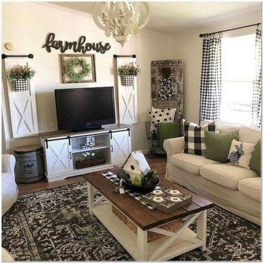 21 Rustic Farmhouse Living Room Decor Ideas 03