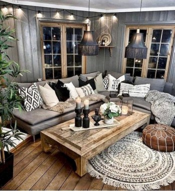 21 Rustic Farmhouse Living Room Decor Ideas 08