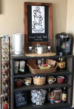 25 Mini Coffee Bar Ideas You Need To Consider For Your Own 07
