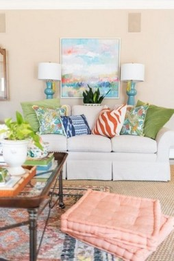 26 Wonderful Living Room Decor Ideas With Spring Theme 14