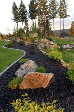 29 Simple Rock Garden Decor Ideas For Your Backyard 24