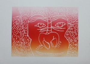 Gorilla Relief Print