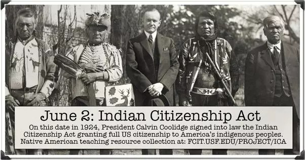 Indian Citizenship Act for Native Americans