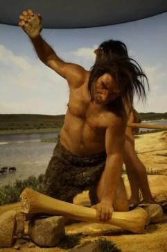 stone age man hunting