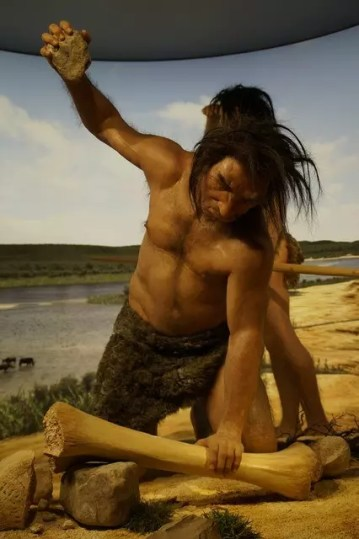 stone age man hunting