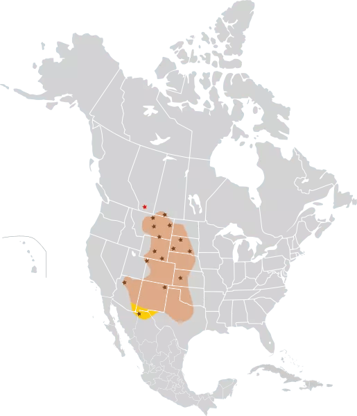 Black Footed Ferret Habitat Map