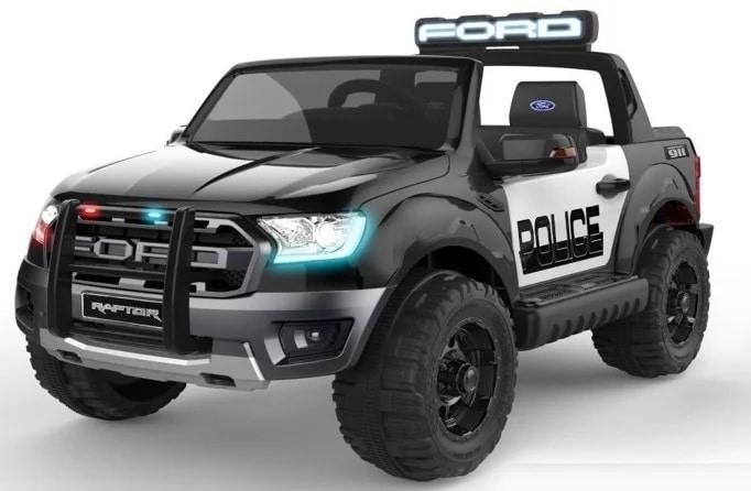 voiture electrique police ford ranger raptor noir kid zzz n quad zzz