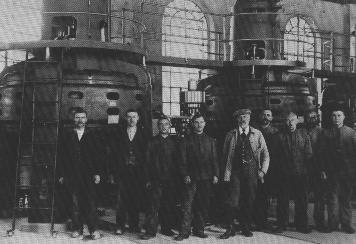 vor den Turbinen nach dem Umbau 1926