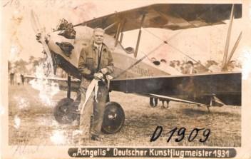Gerd Achgelis -Deutscher Kunstflugmeister 1931