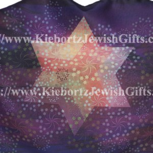 Jewish Star David Purple Prayer Shawl Scarf