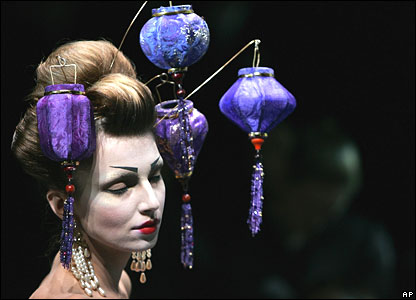 Galliano lantern headdresses