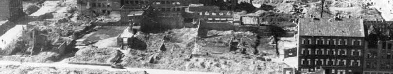 1946 Blick auf Damm-, Waisenhofstraße und Fleethörn