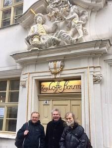 Vor dem Leipziger Kaffeemuseum. Foto: Fischer
