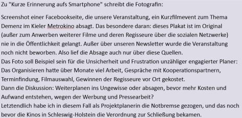 """Text zum Foto """"Short Reminder"""" von Cornelia Prepernau."""