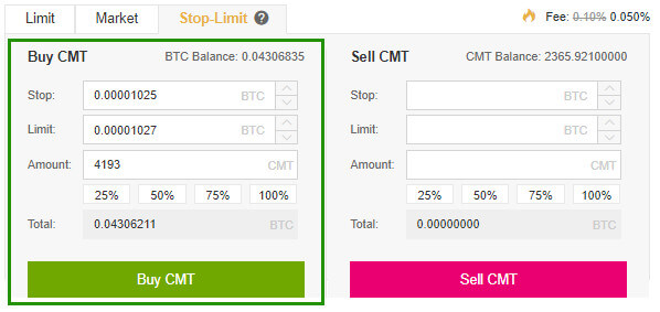 Stop – Limit trên sàn giao dịch Binance 7