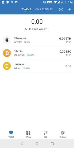 Giao diện ví Trust Wallet