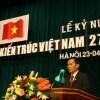 KTS Nguyễn Tấn Vạn - CT Hội Kiến trúc sư Việt Nam phát biểu tại lễ kỹ niệm ngày 27-4