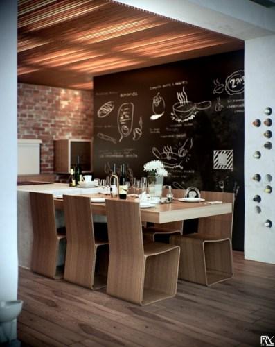 Thiết kế ấn tượng phòng ăn màu trắng