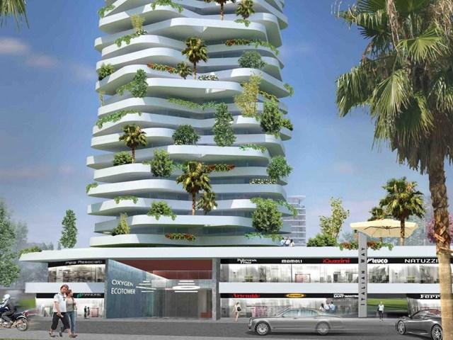 Oxygen Eco-tower, Jakarta, Indonesia do Progetto CMR Engineering Integrated Services Srl thiết kế và Bimantra Citra là nhà phát triển kiêm khách hàng nhận đề cử Dự án Futura Mega tốt nhất