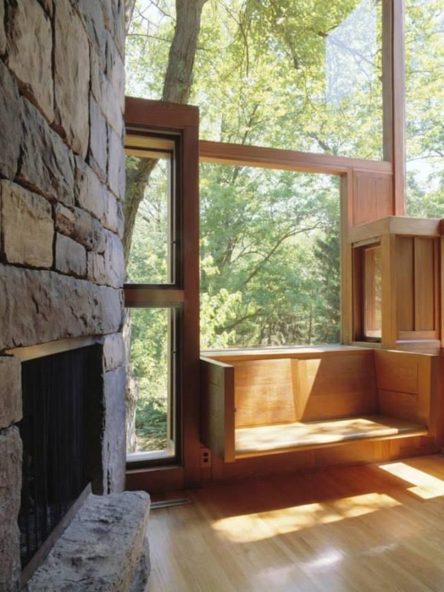 Fisher house- Kts Louis Kahn- Một băng ghế được hình thành từ façade