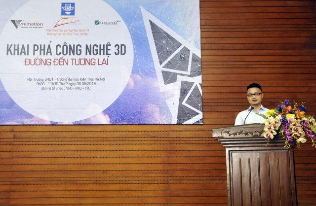 Anh Đinh Anh Tuấn, Giám đốc công ty VNimation, nói về mục đích của buổi hội thảo