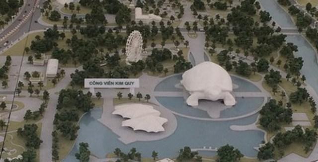 Dự án Công viên văn hóa du lịch vui chơi giải trí Kim Quy tại huyện Đông Anh có quy mô rộng hơn 100 ha