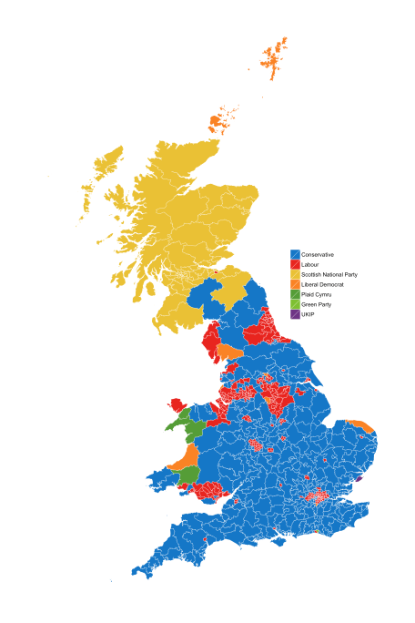 Constituencies by Winning Candidate.