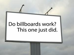 Billboards: Big in many ways