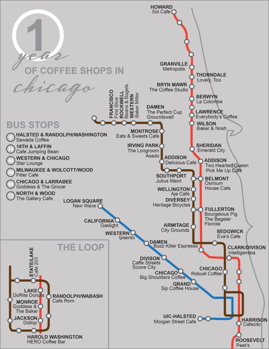 Chicago map cta on