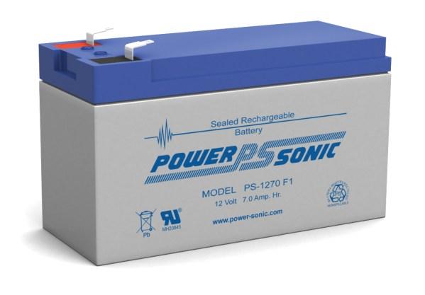 Powersonic PS-1270-F1 12V 7AH F1 Battery