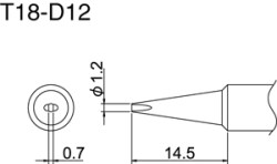 Hakko T18-D12 Solder Tip