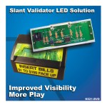 K621-BVD-W LED Replacement Board for Bill Validator on IGT Slant Top Slot Machines (All White LEDs)