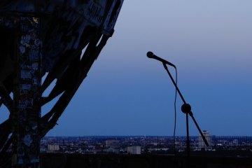 Mikrophon beim Teufelsberg Poetry Slam