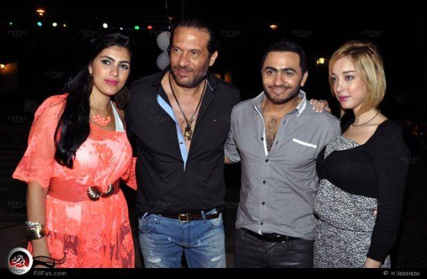تامر حسني وبسمة بوسيل.. أول ظهور بعد الزواج