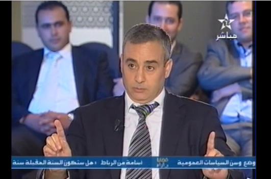 """برنامج """"قضايا وآراء"""" على القناة الأولى.. """"رجل القصر"""" يحرج عبد الرحمان العدوي!! (فيديو)"""