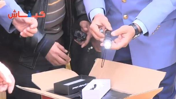 خطير.. مصابيح مزودة بصواعق كهربائية في كازا (فيديو)