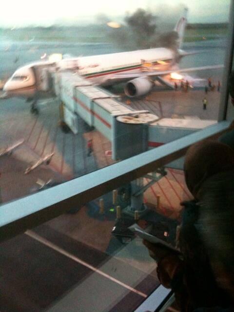 على متنها الطاقم التقني والتجاري فقط.. طائرة لارام التي كادت تحترق في كندا تعود إلى البيضاء
