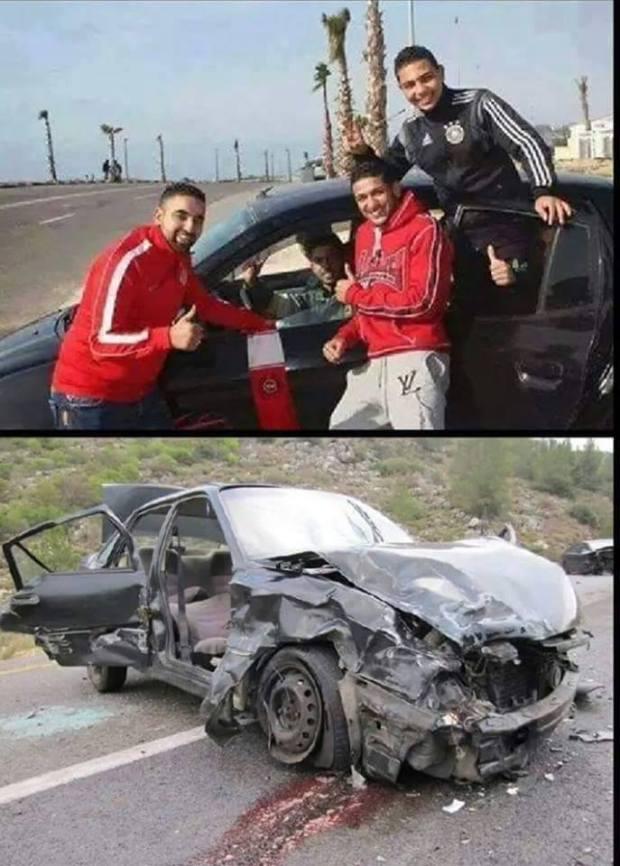 صورة مؤثرة.. الوداديون ضحايا حادث السير في آسفي
