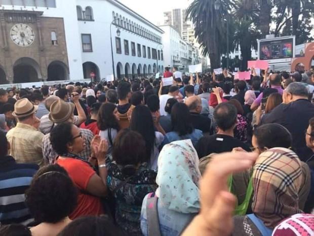 للتضامن مع محسن.. المئات يحتجون أمام البرلمان
