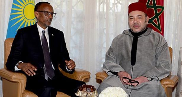 رواندا.. مباحثات بين الملك والرئيس كاغامي