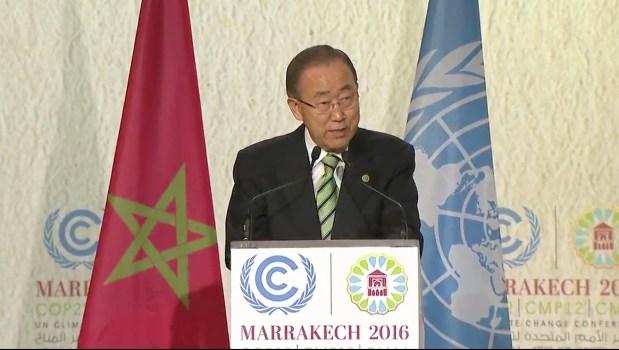 بان كي مون: هناك إرادة عالمية لتنفيذ اتفاق باريس