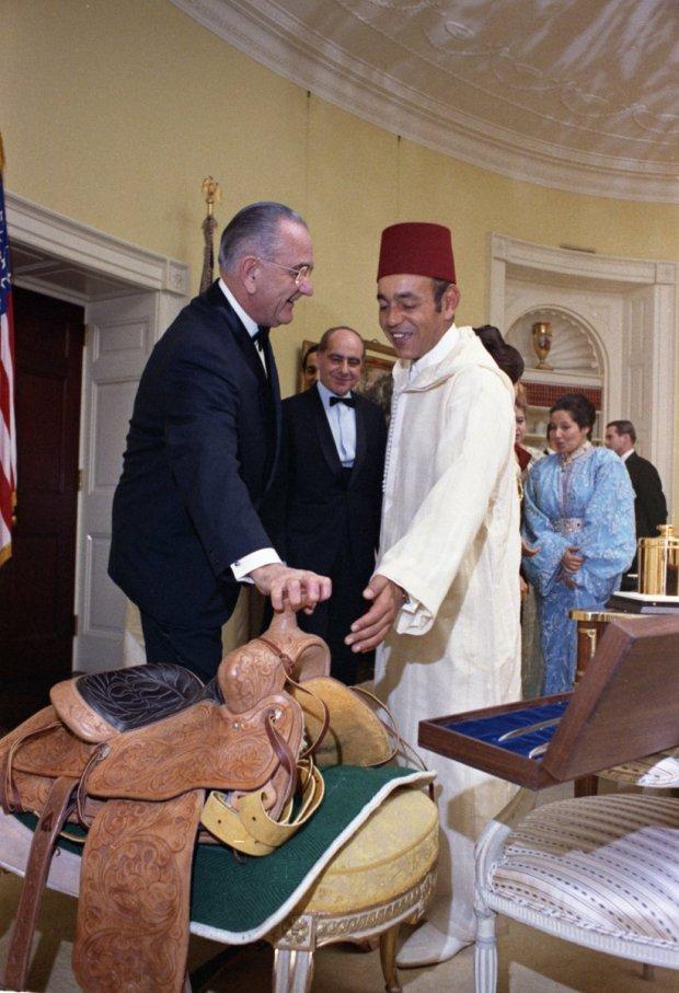 سنة 1973.. الحسن الثاني مع الرئيس الأمريكي