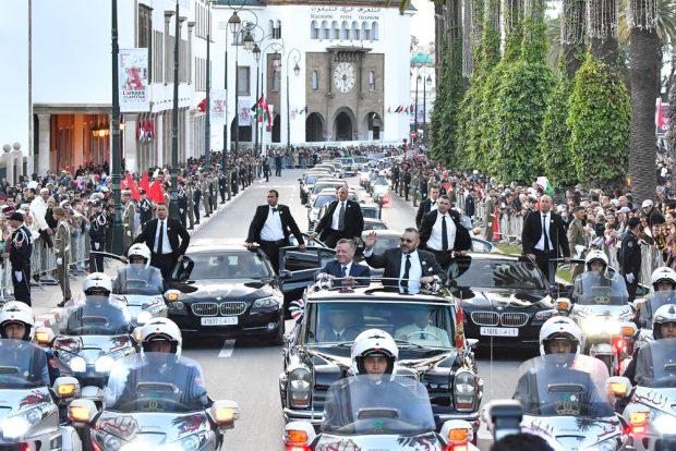 بالصور.. استقبال رسمي وعشاء ملكي على شرف عاهل الأردن
